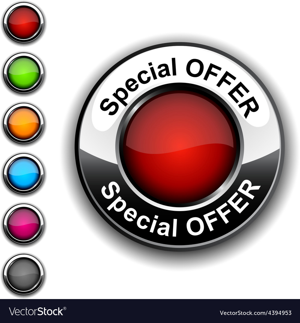 Special offer button vector | Price: 1 Credit (USD $1)