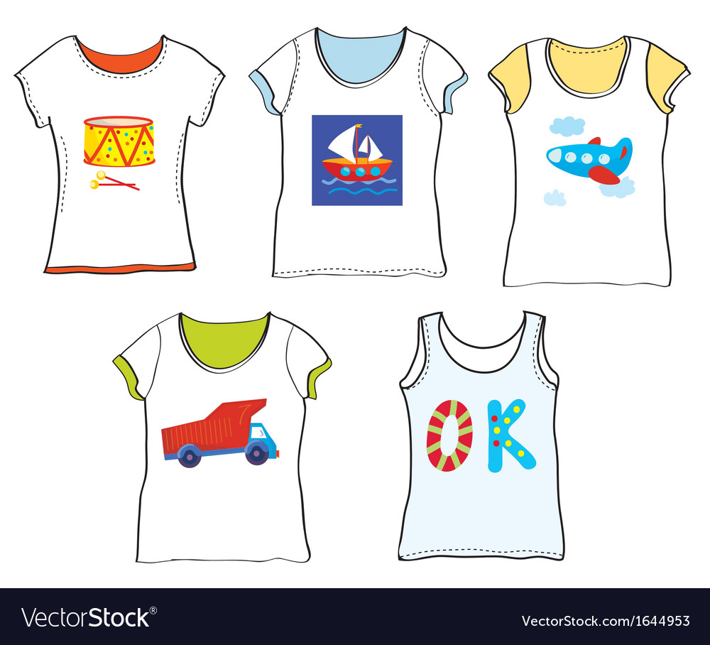 T-shirts design for kids with toys vector | Price: 1 Credit (USD $1)
