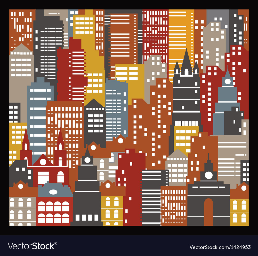 Urban houses vector | Price: 1 Credit (USD $1)