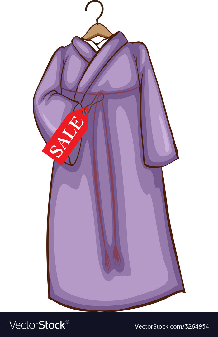 A lavender asian dress for sale vector | Price: 1 Credit (USD $1)