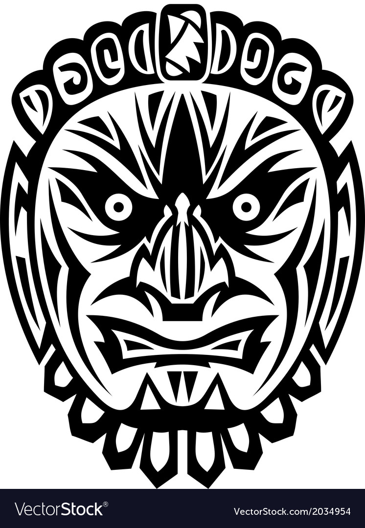 Ancient tribal mask vector | Price: 1 Credit (USD $1)