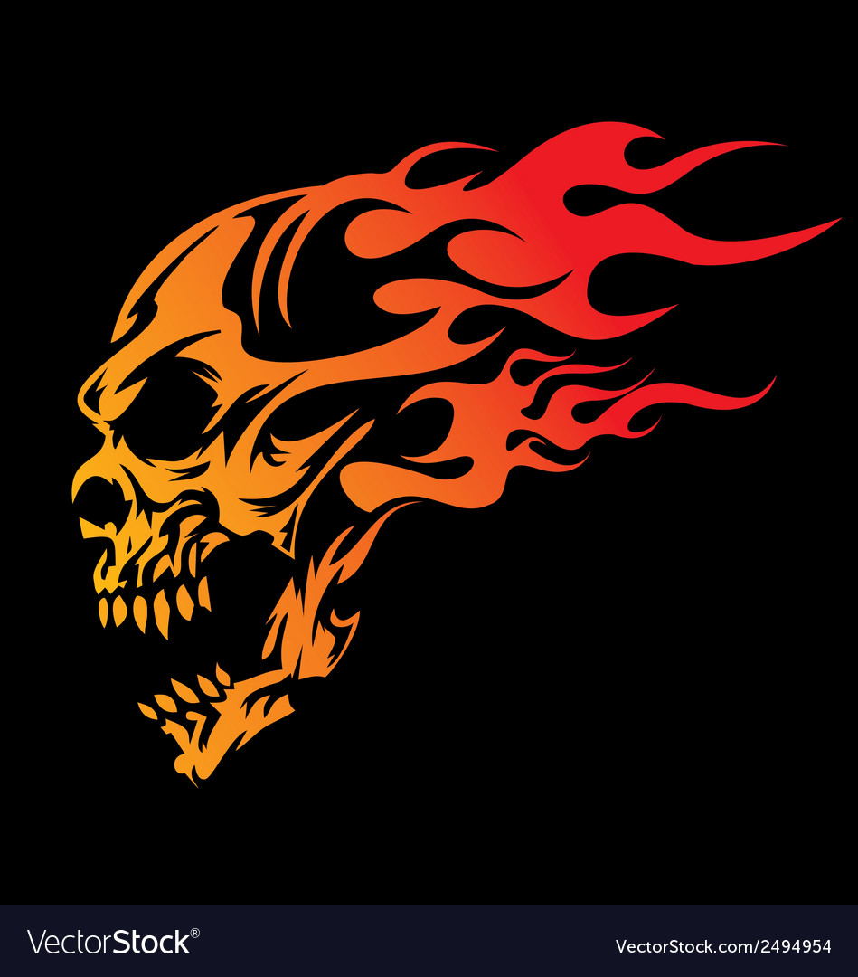 Burning skulls vector | Price: 1 Credit (USD $1)
