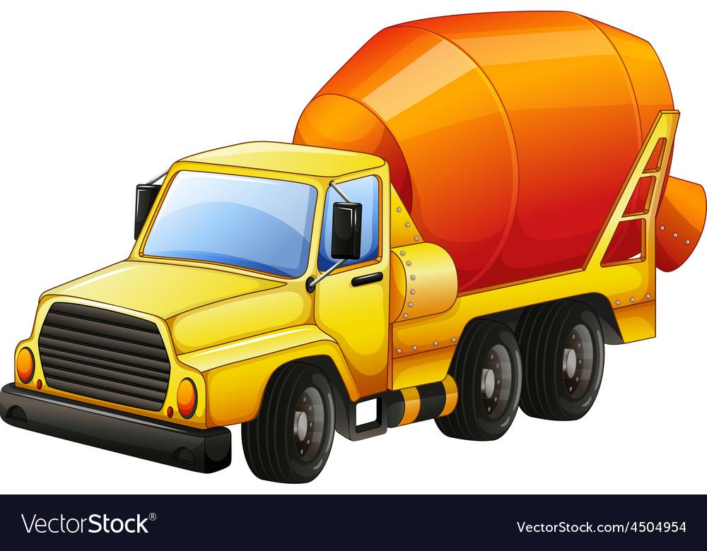 Cement truck vector