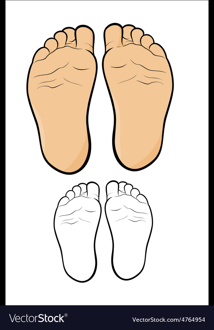 Childs foot vector | Price: 1 Credit (USD $1)