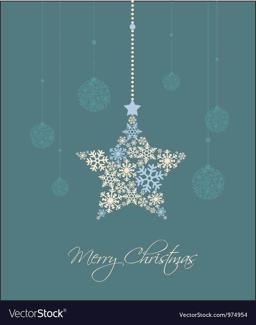 Christmas star vector | Price: 1 Credit (USD $1)