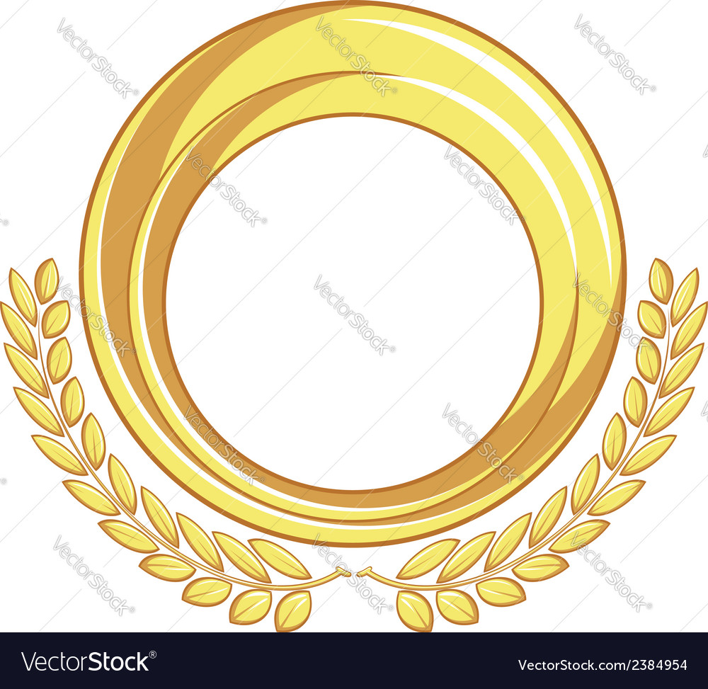 Golden badge ornament vector | Price: 1 Credit (USD $1)