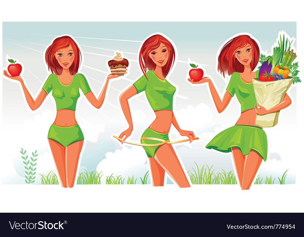 Healthy lifestyle concept vector | Price: 5 Credit (USD $5)