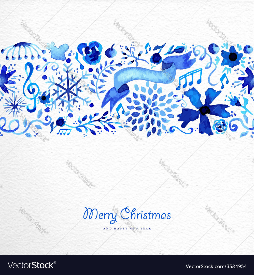 Merry christmas hand drawn pattern vector | Price: 1 Credit (USD $1)