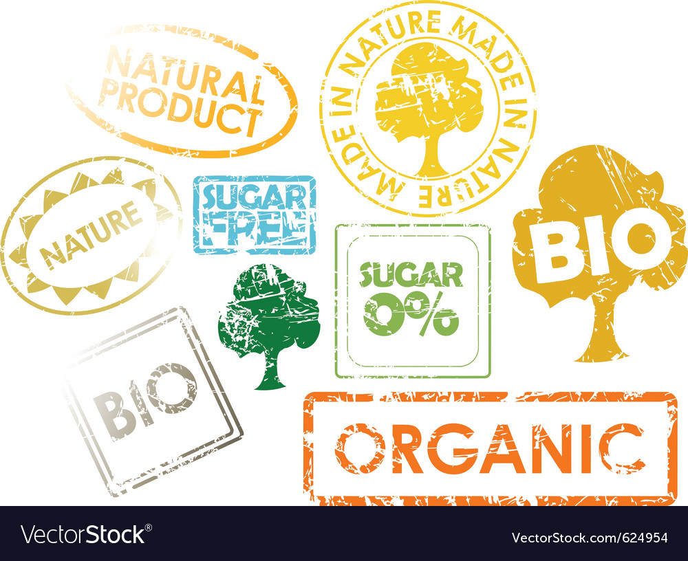 Organic stamps vector | Price: 1 Credit (USD $1)