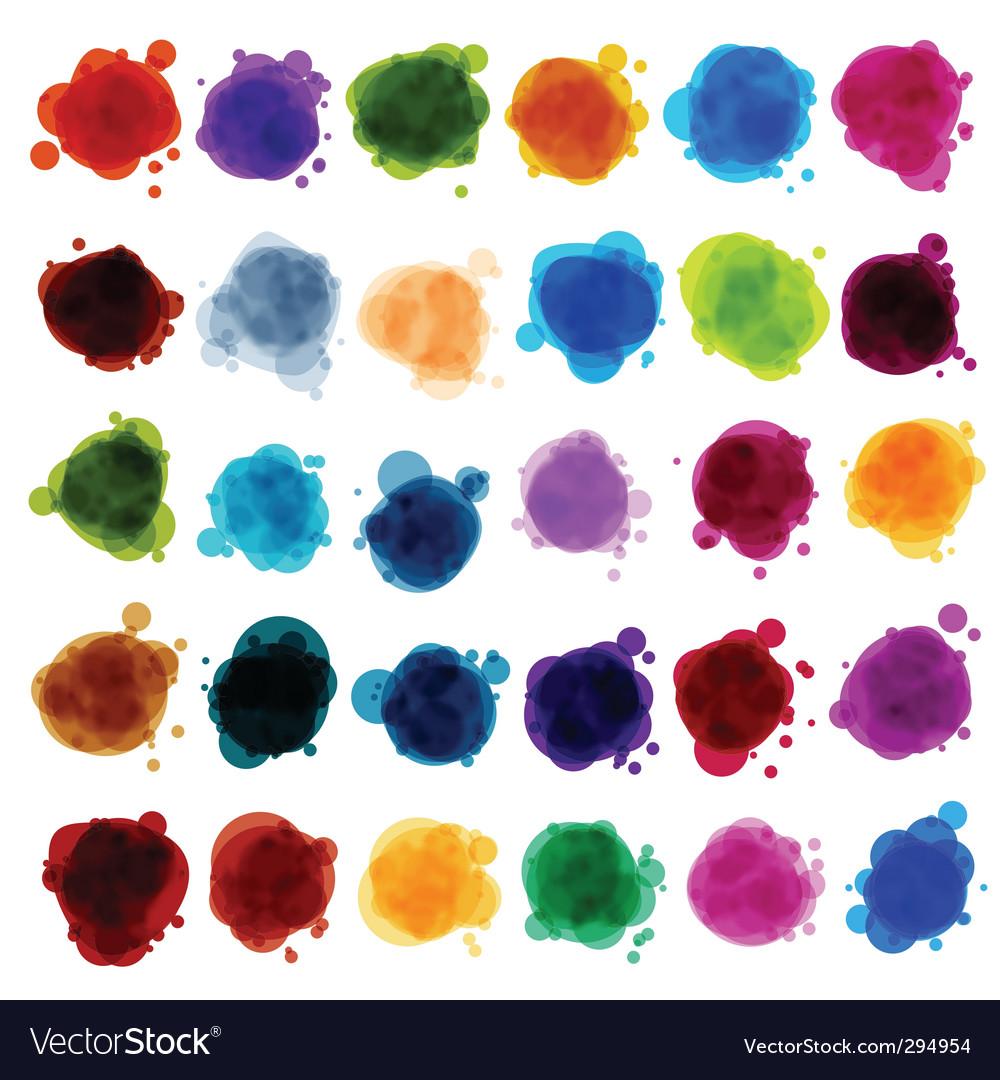 Paint splash design elements vector | Price: 1 Credit (USD $1)