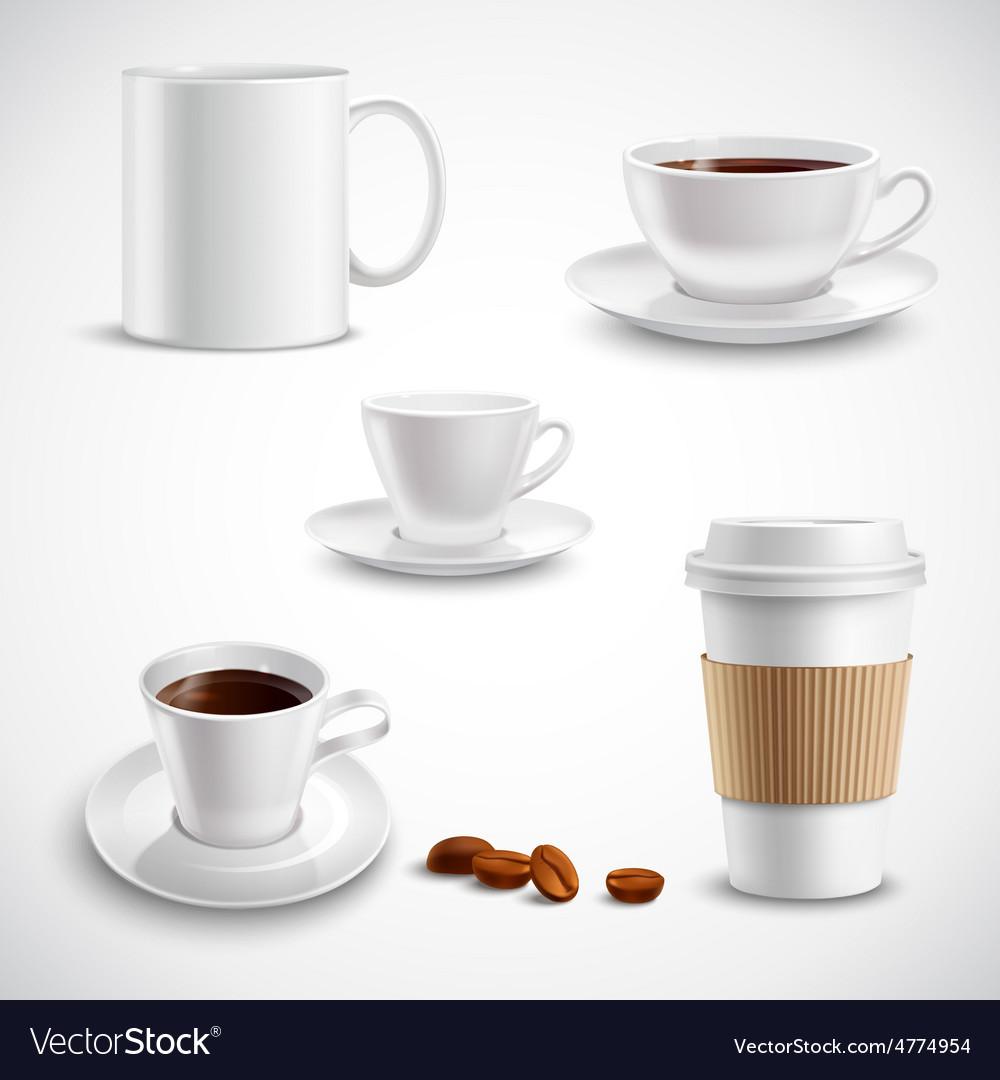 Realistic coffee set vector | Price: 3 Credit (USD $3)