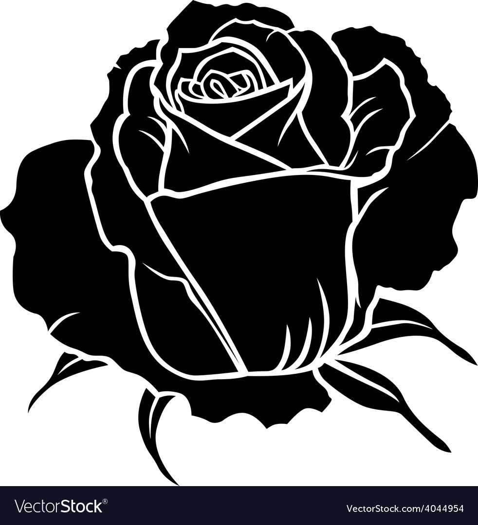 Rose one vector | Price: 1 Credit (USD $1)