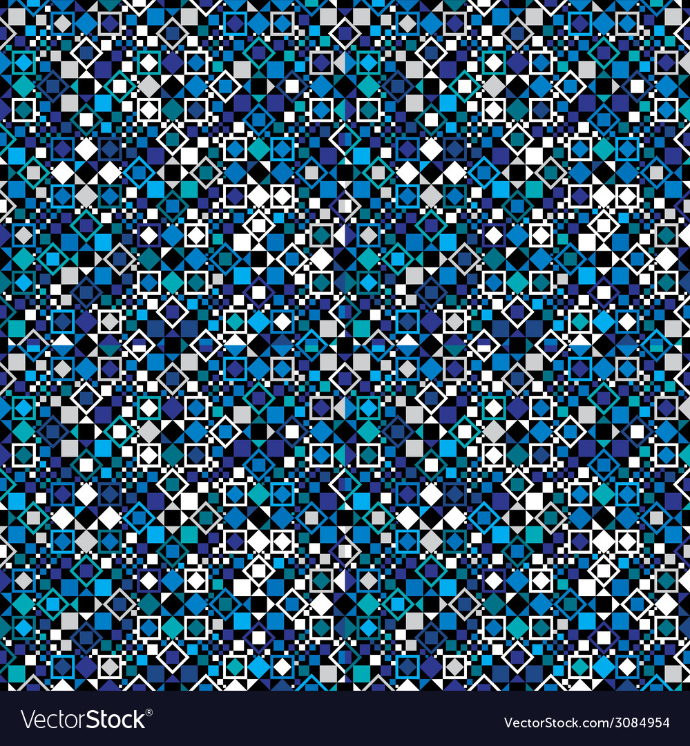 Seamless geometric pattern with blue elements vector | Price: 1 Credit (USD $1)