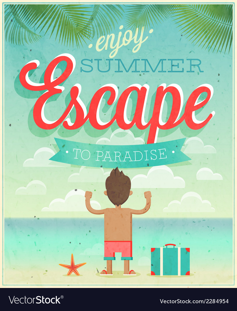 Summer escape vector | Price: 1 Credit (USD $1)