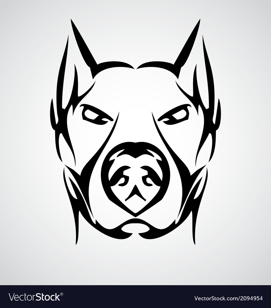 Tribal dog face vector   Price: 1 Credit (USD $1)