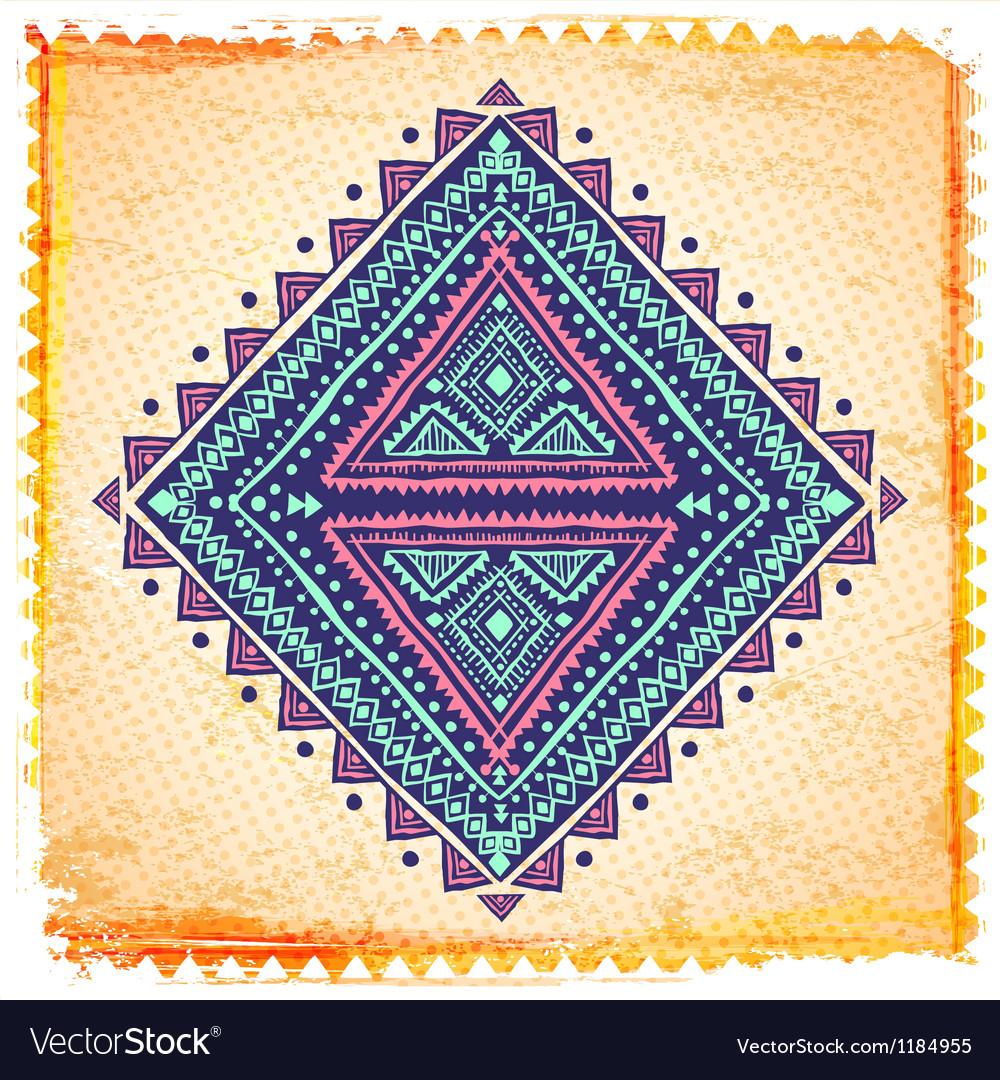 Beautiful ethnic ornament vector | Price: 1 Credit (USD $1)