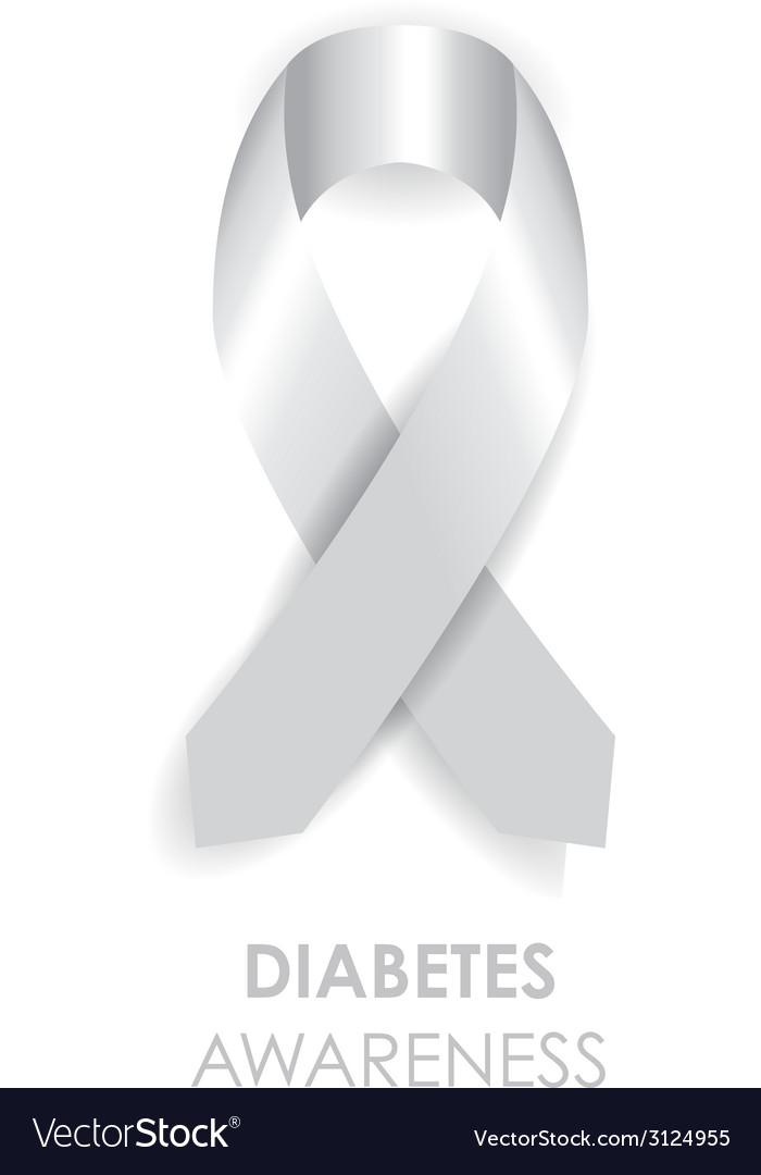 Diabetes awareness ribbon vector | Price: 1 Credit (USD $1)
