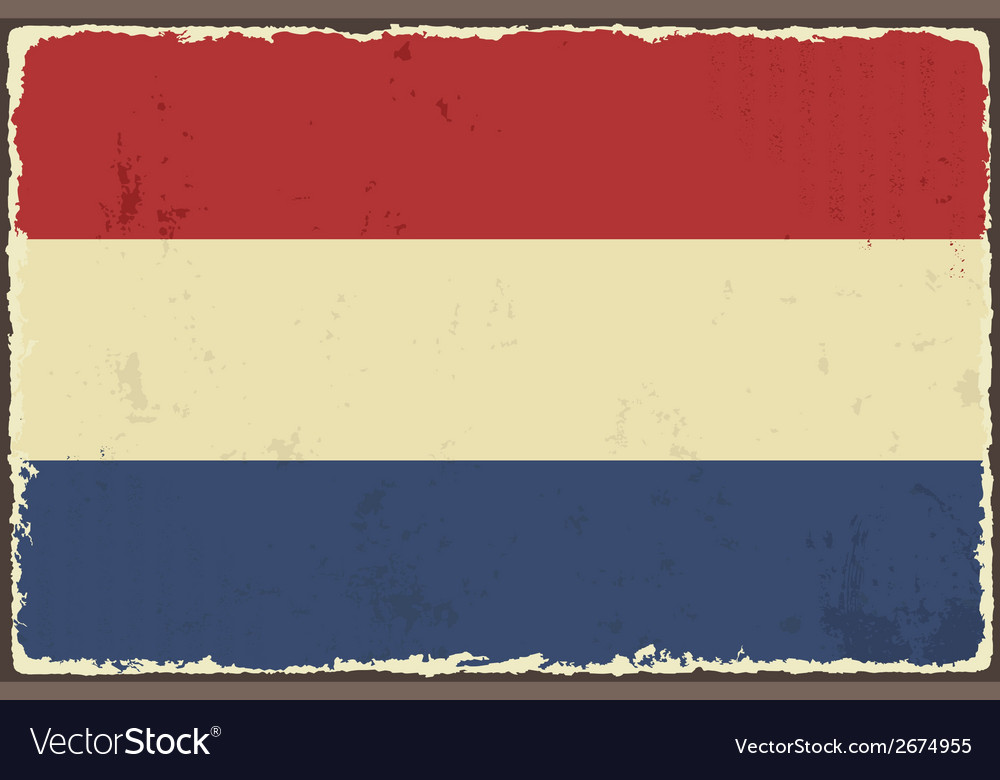 Dutch grunge flag vector | Price: 1 Credit (USD $1)
