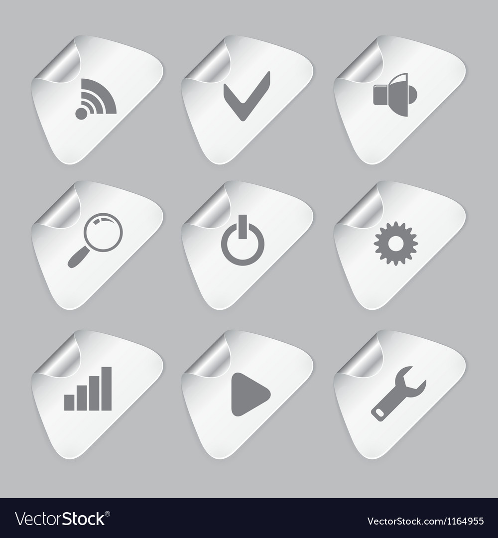 Editor tools icon set vector | Price: 1 Credit (USD $1)