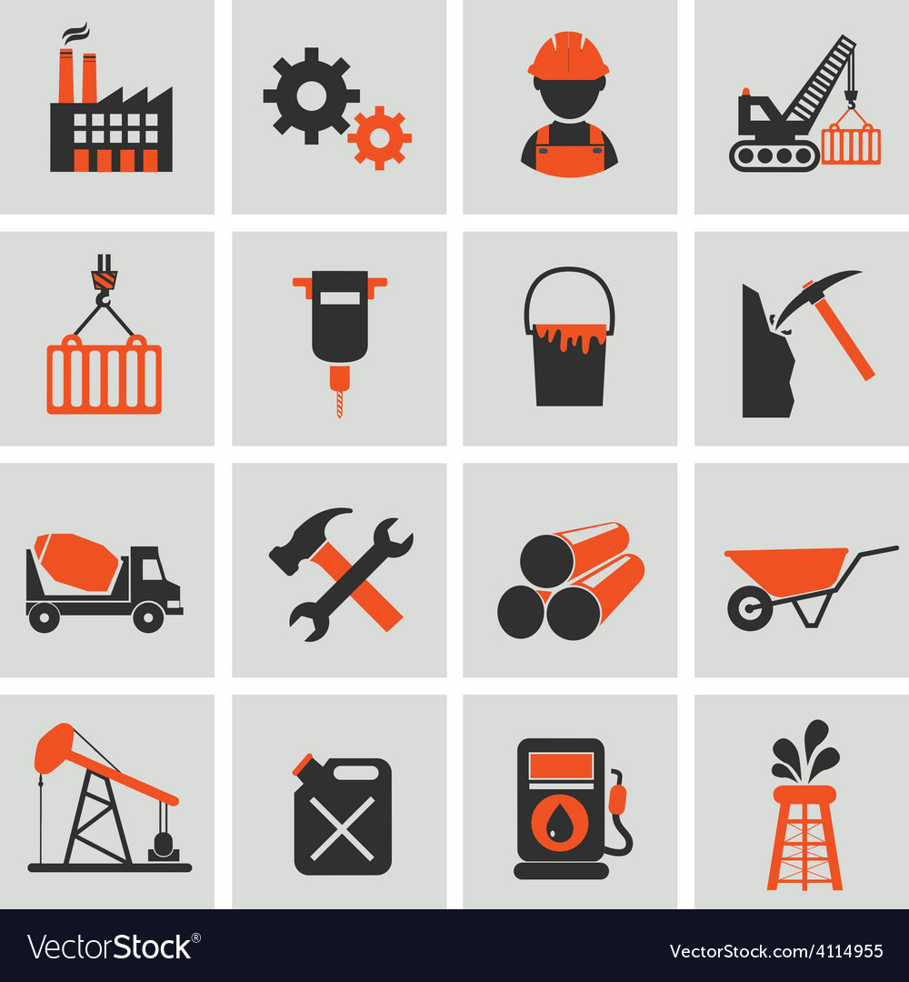 Engineering and building icons vector | Price: 1 Credit (USD $1)
