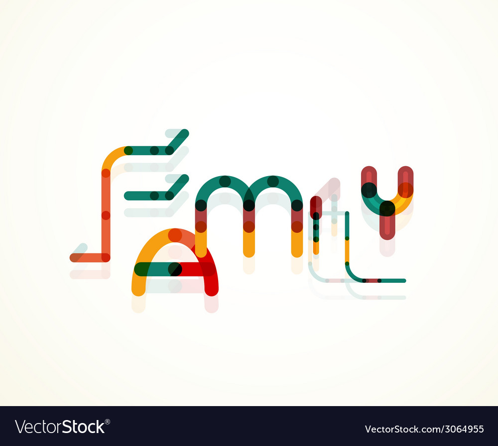 Family word concept vector | Price: 1 Credit (USD $1)