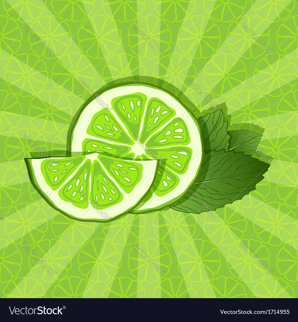 Lime and mint background vector | Price: 1 Credit (USD $1)