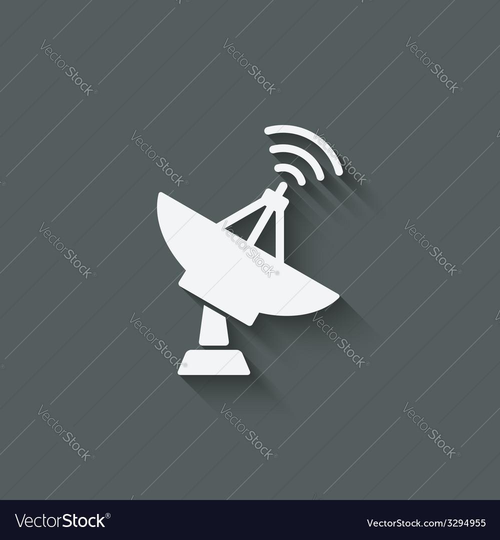 Parabolic antenna symbol vector | Price: 1 Credit (USD $1)