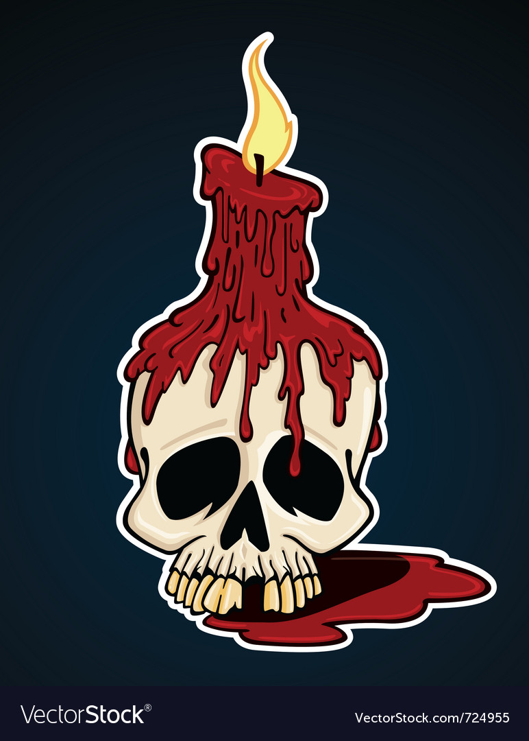 Skull with candle vector | Price: 1 Credit (USD $1)