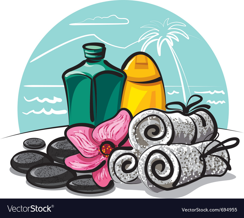 Spa products collection vector | Price: 3 Credit (USD $3)