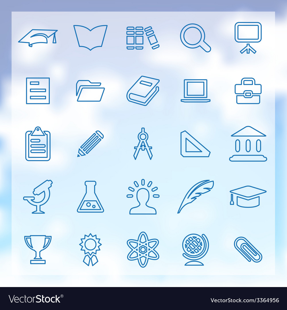 25 education icons vector | Price: 1 Credit (USD $1)
