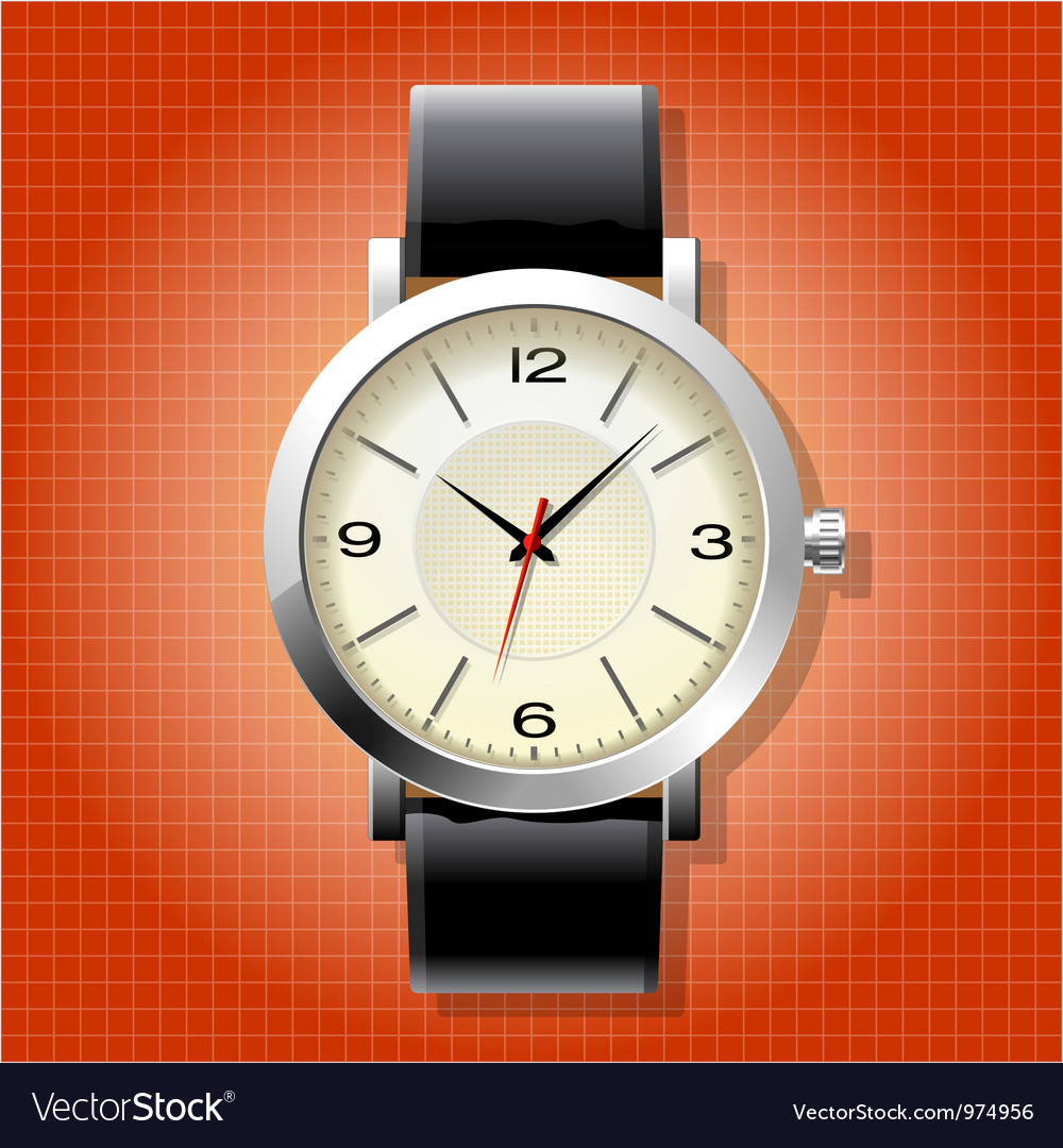 Classic analog mens wrist watch vector | Price: 3 Credit (USD $3)