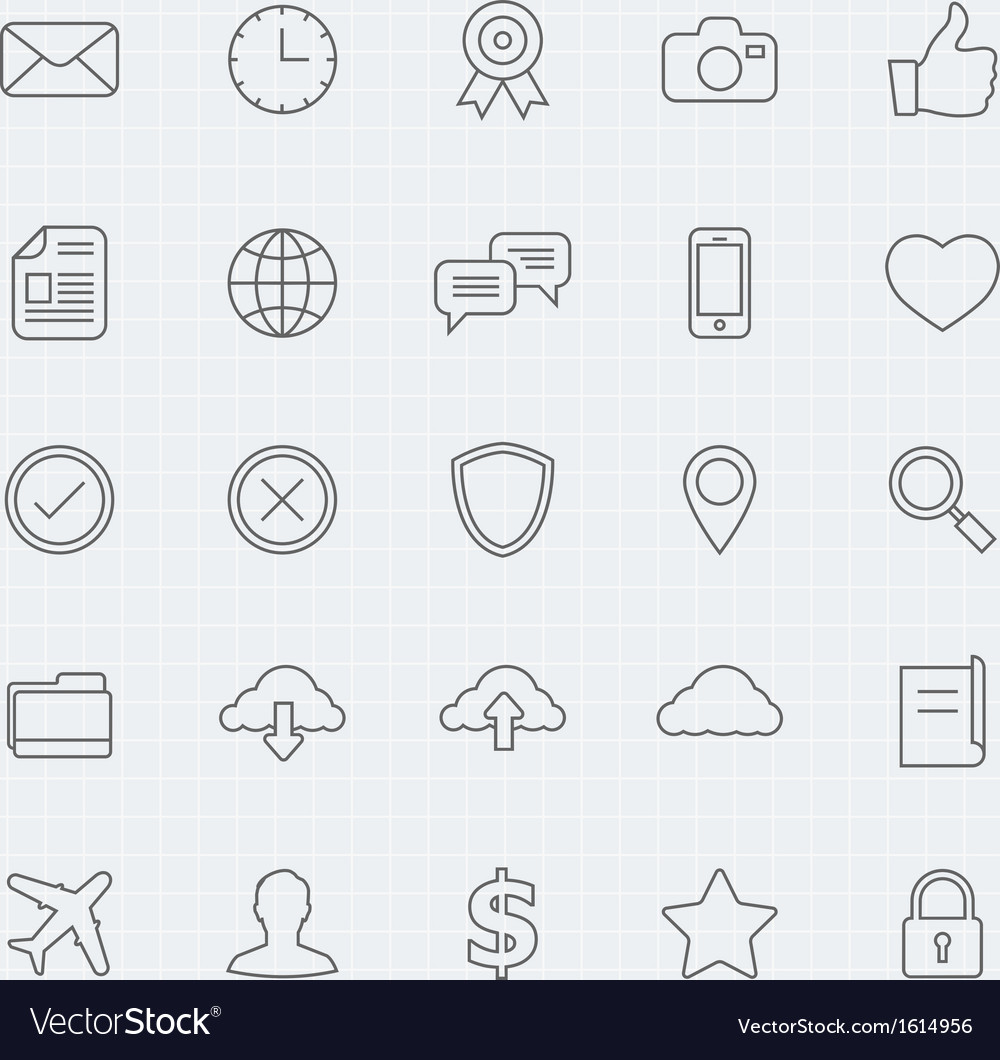 Generic thin line symbol icon vector | Price: 1 Credit (USD $1)