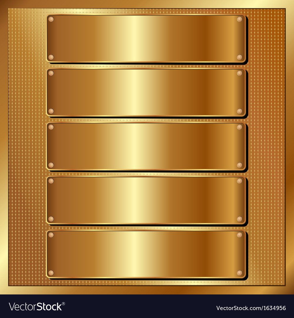 Golden panel vector | Price: 1 Credit (USD $1)
