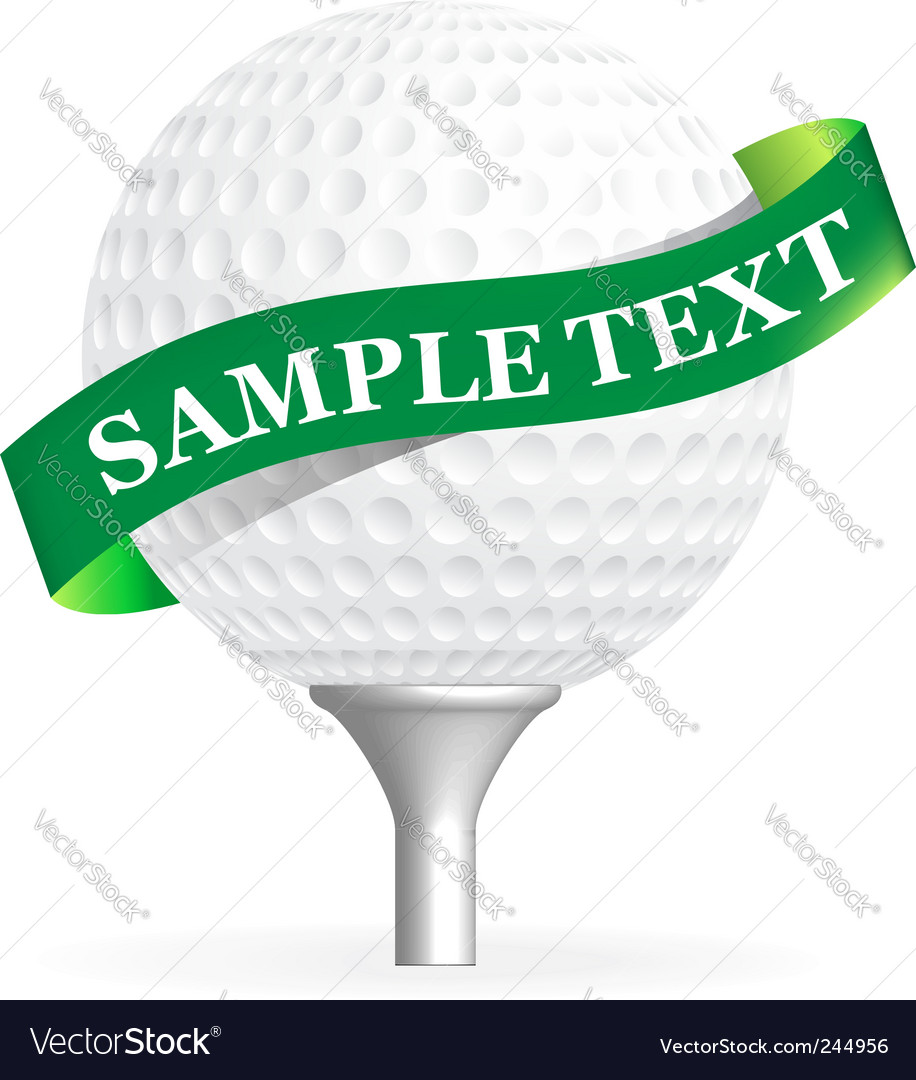 Golf ball isolated on white vector | Price: 1 Credit (USD $1)