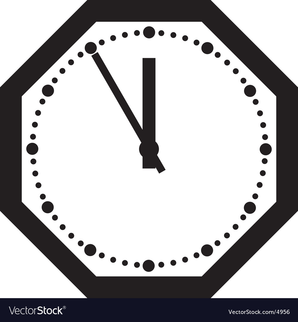Office clock vector | Price: 1 Credit (USD $1)