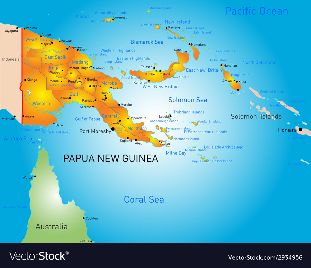 Papua new guinea vector | Price: 1 Credit (USD $1)