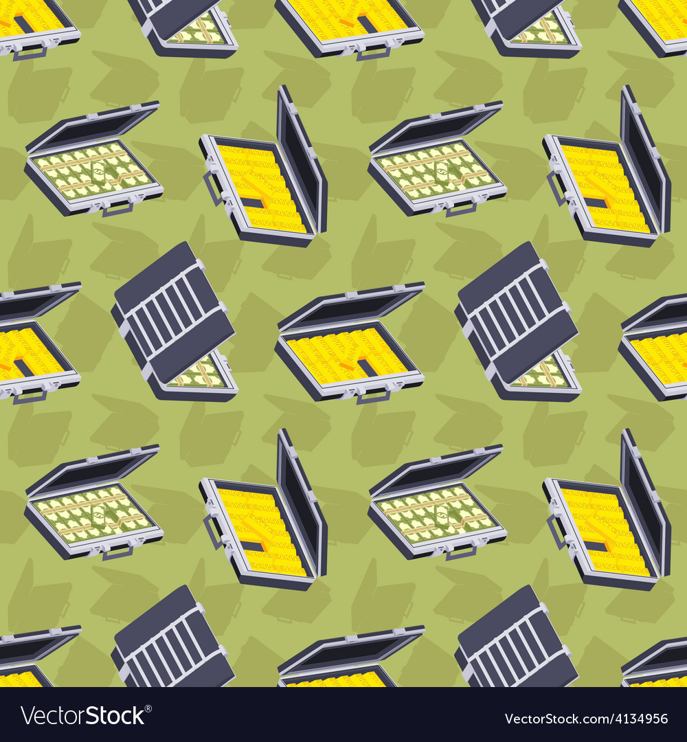 Seamless pattern with the open briefcases vector   Price: 1 Credit (USD $1)