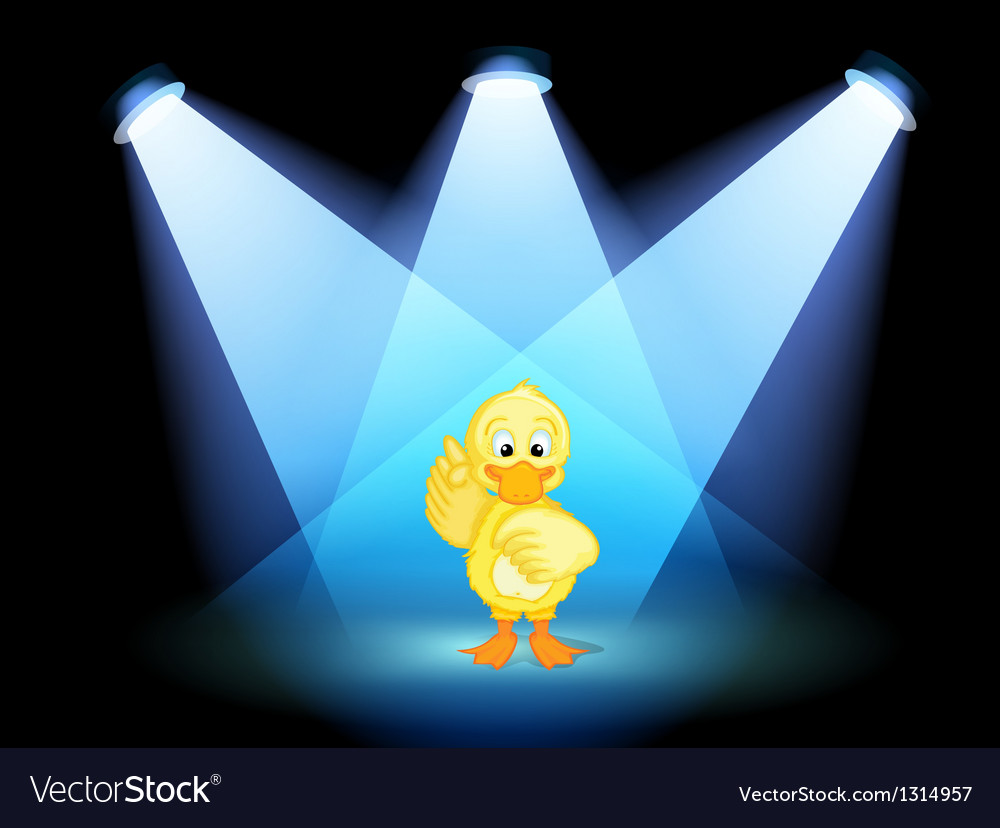 A duck with spotlights vector | Price: 1 Credit (USD $1)