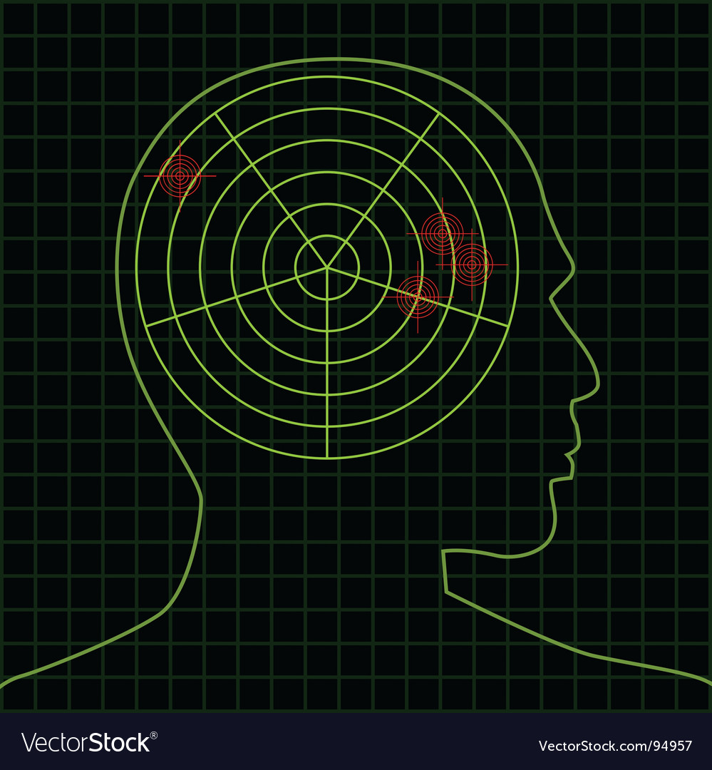 Brain radar targets vector | Price: 1 Credit (USD $1)