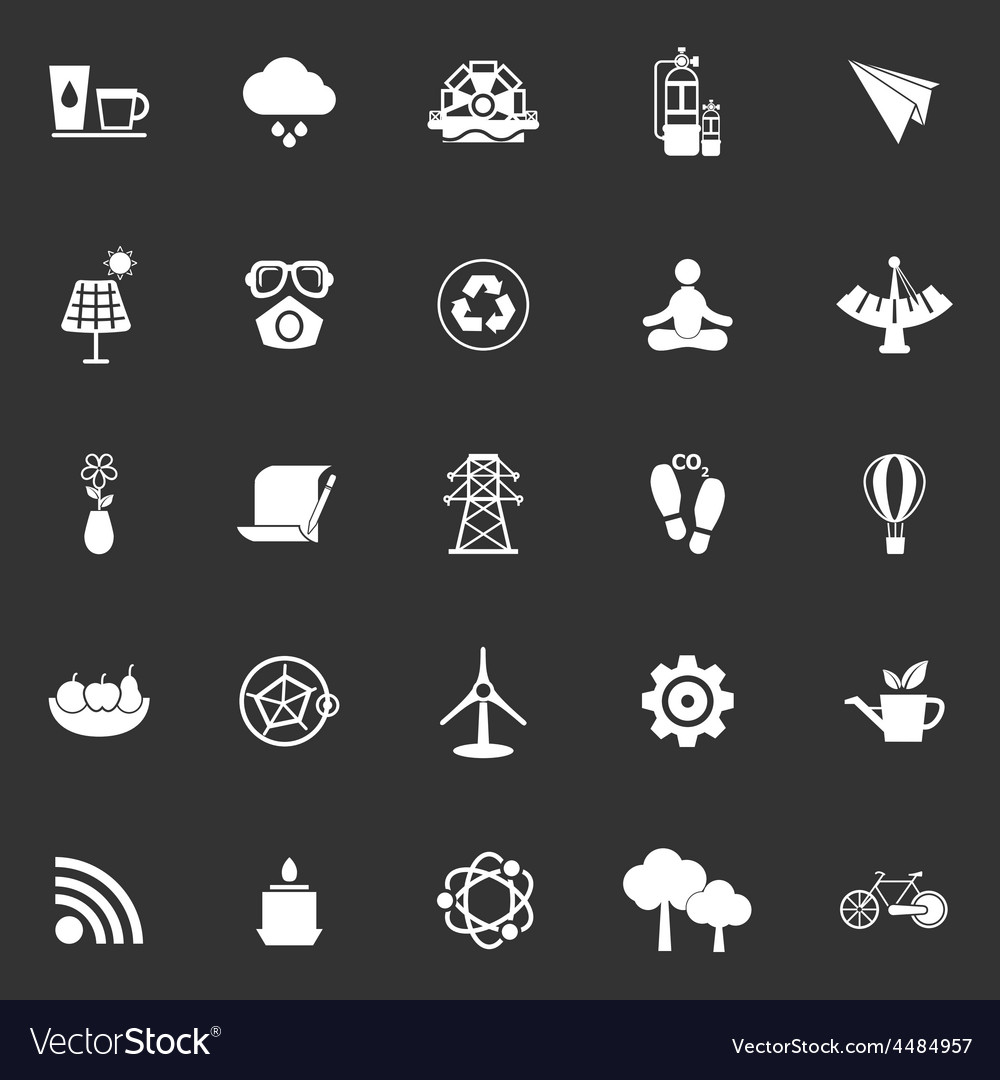 Clean concept icons on gray background vector | Price: 1 Credit (USD $1)