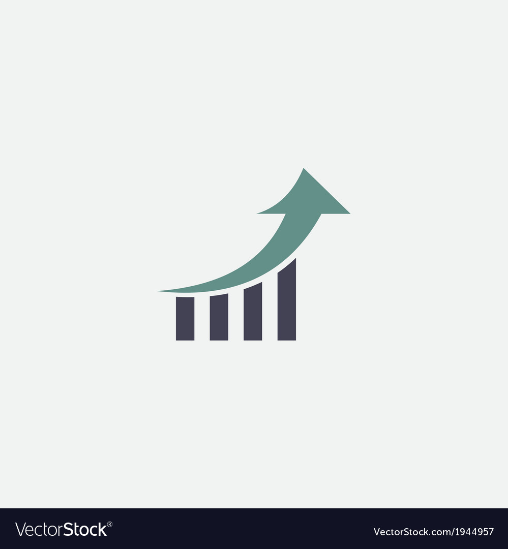 Growth chart icon vector | Price: 1 Credit (USD $1)