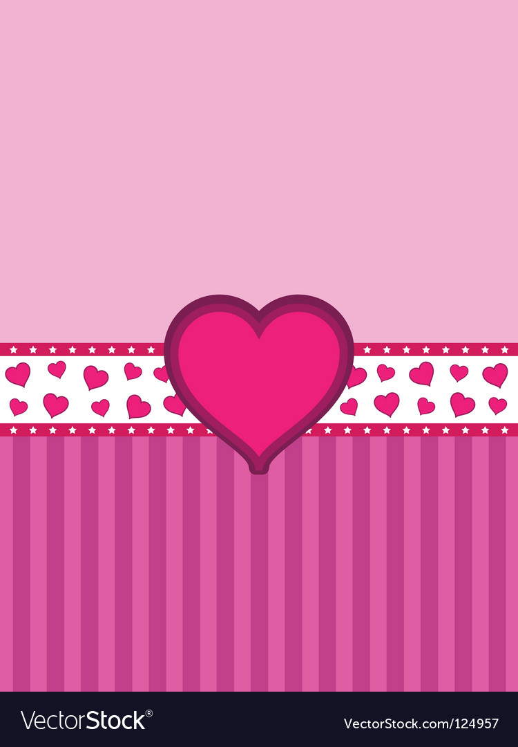 Heart banner background vector | Price: 1 Credit (USD $1)