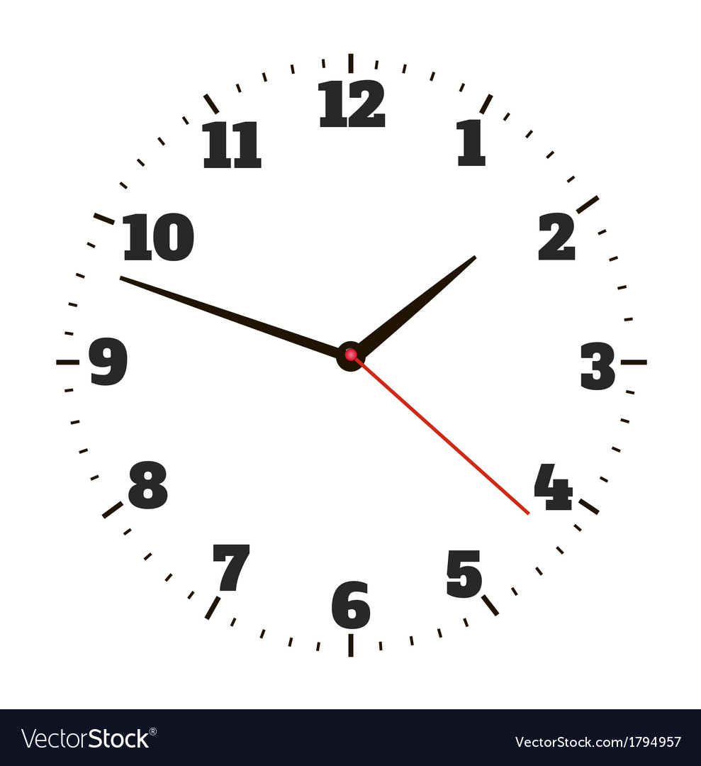 Round office clock vector | Price: 1 Credit (USD $1)