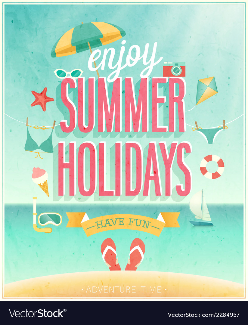 Summer holydays vector | Price: 1 Credit (USD $1)