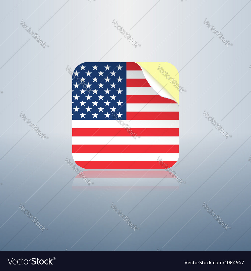 Usa peeling sticker rounded corners vector | Price:  Credit (USD $)