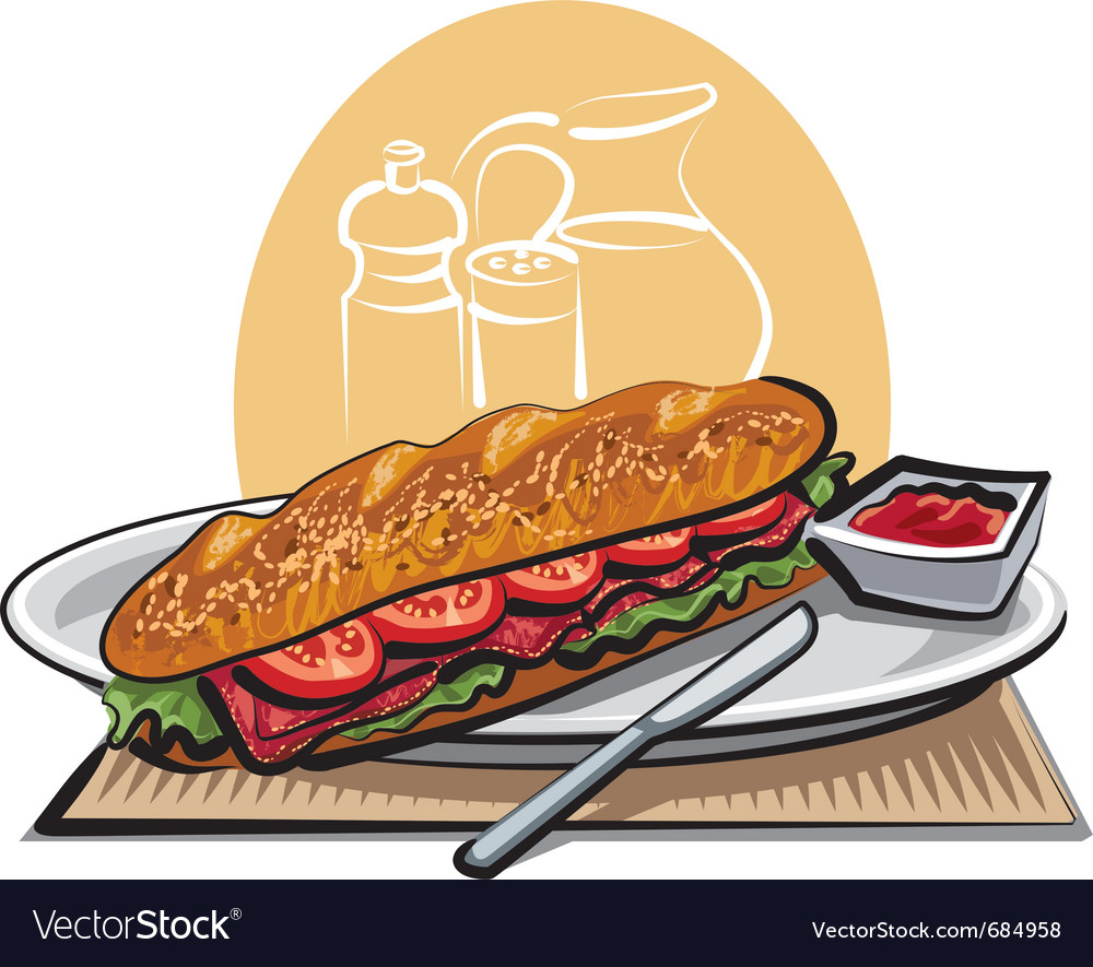 French sandwich vector | Price: 3 Credit (USD $3)