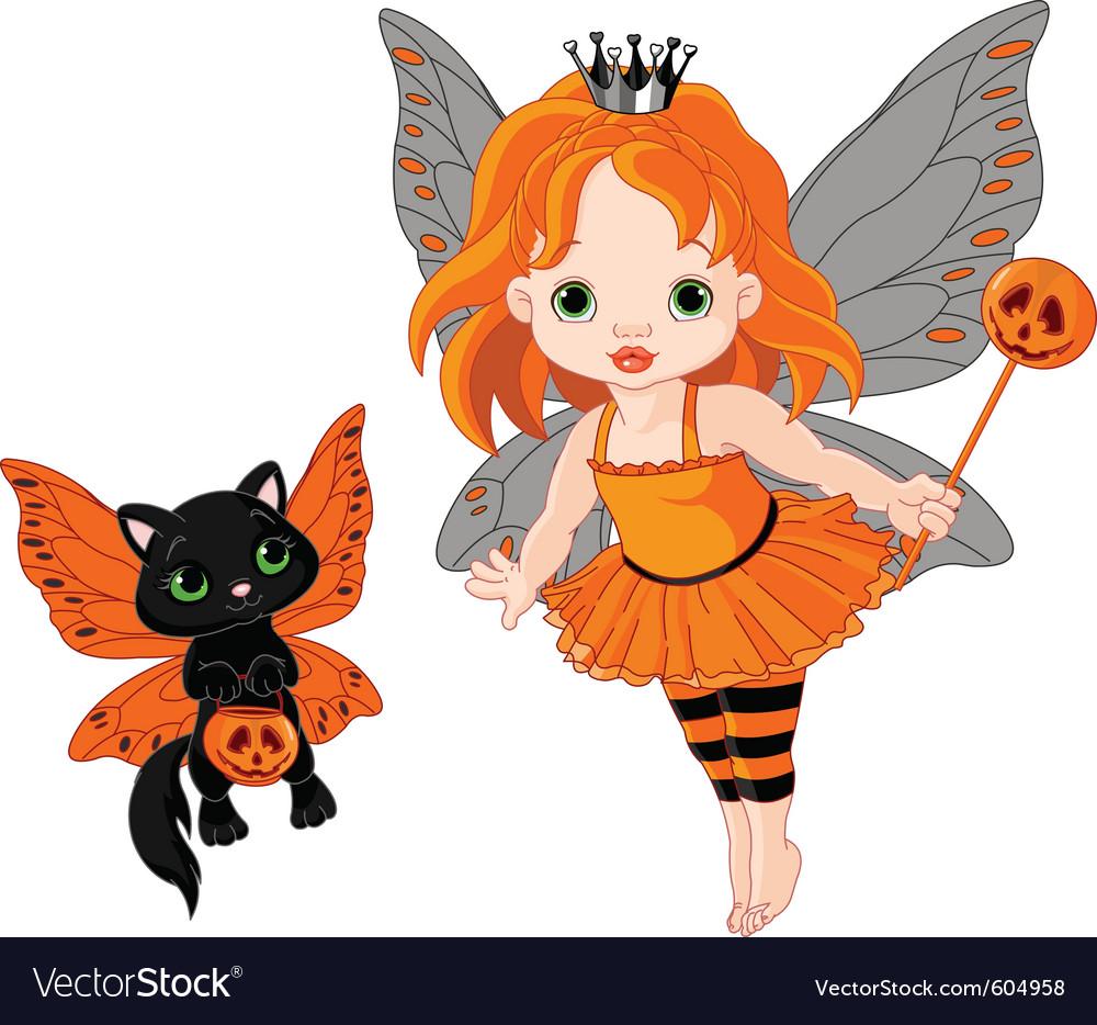 Halloween baby fairy vector | Price: 3 Credit (USD $3)