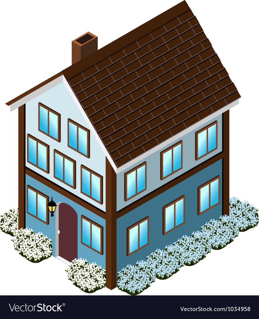 Isometric tudor style house vector | Price: 1 Credit (USD $1)