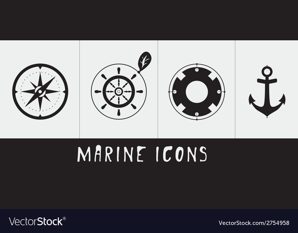 Marine icons vector | Price: 1 Credit (USD $1)