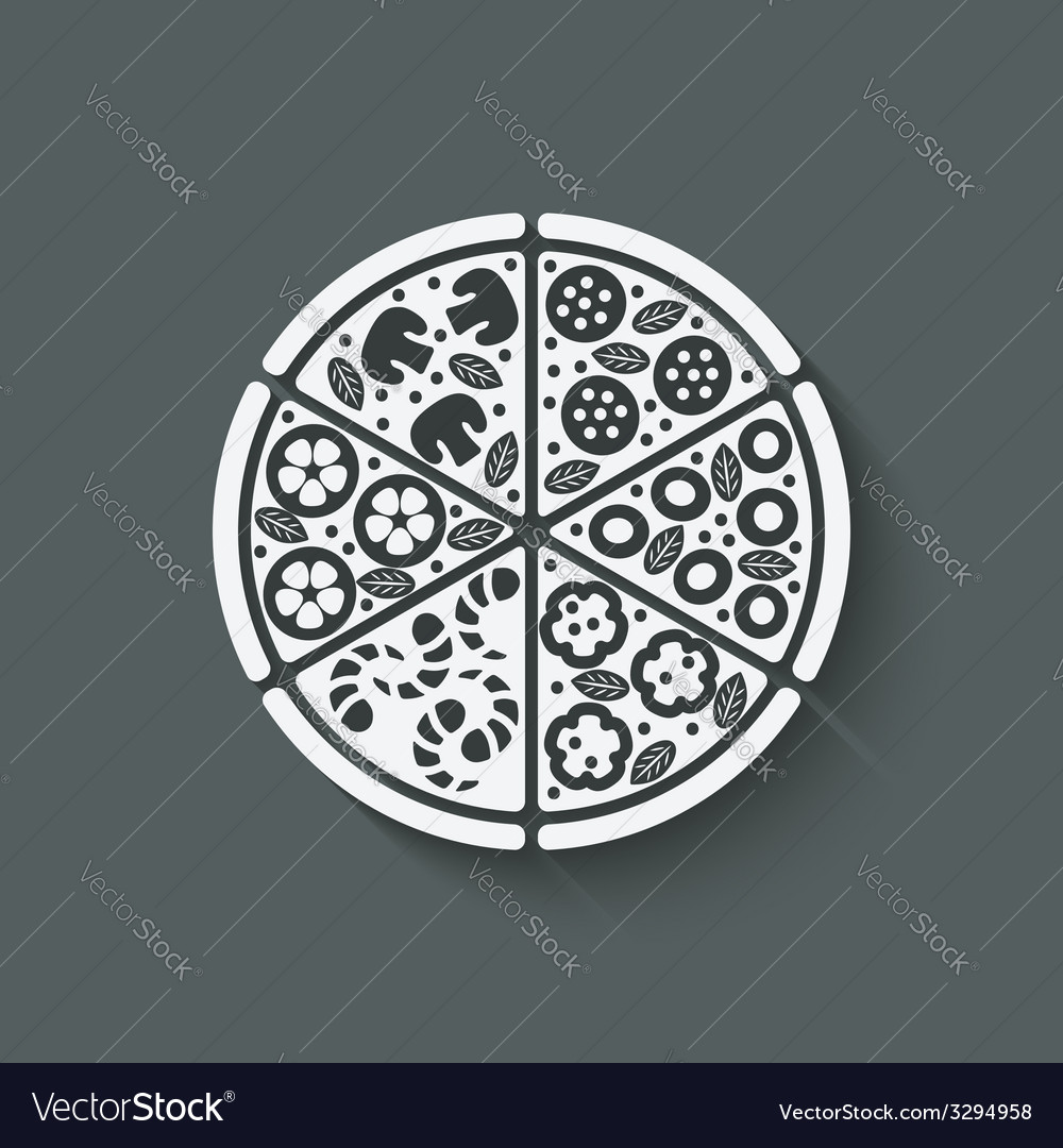 Pizza design element vector | Price: 1 Credit (USD $1)